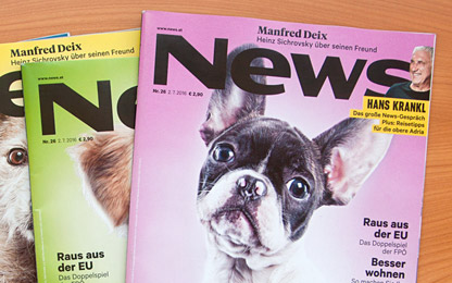 Magazine <i>News</i> switched to Sindelar as their text face