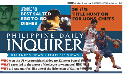 The <i>Philippine Daily Inquirer's </i>new text face: Sindelar